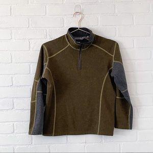 Boys Kuhl Revel Kashmira 1/4 Zip Pullover Olive